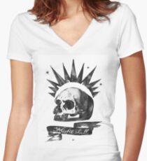 LIFE is STRANGE · Chloe Price's t-SHIRT 'MISFIT SKULL' Women's Fitted V-Neck T-Shirt