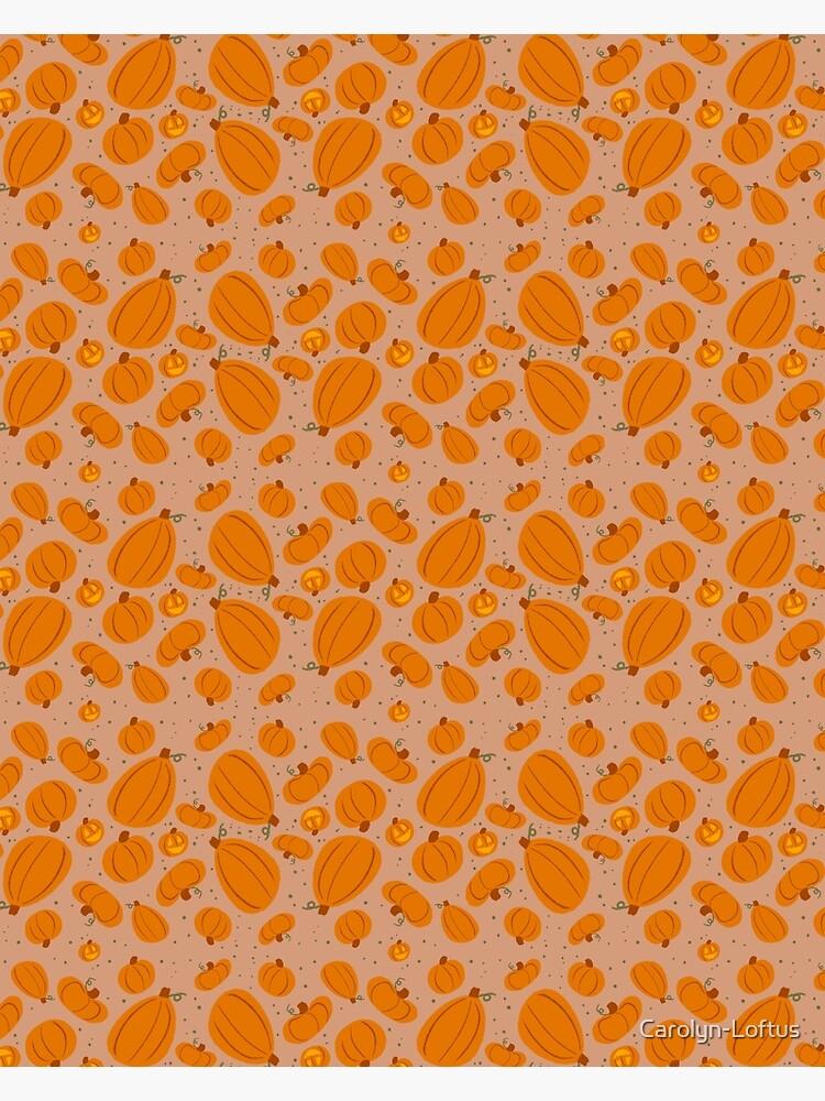 Falling for Autumn-Pumpkin Pattern by Carolyn-Loftus