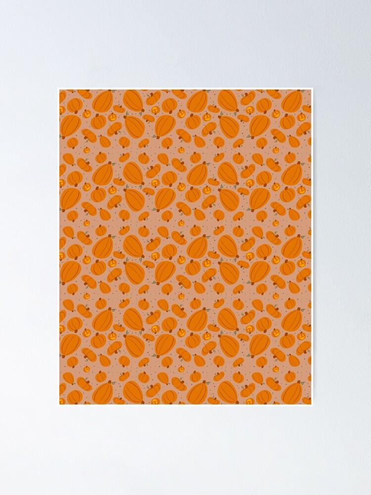 Alternate view of Falling for Autumn-Pumpkin Pattern Poster