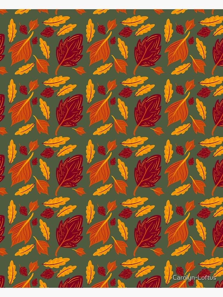 Falling for Autumn-Leaf Pattern by Carolyn-Loftus