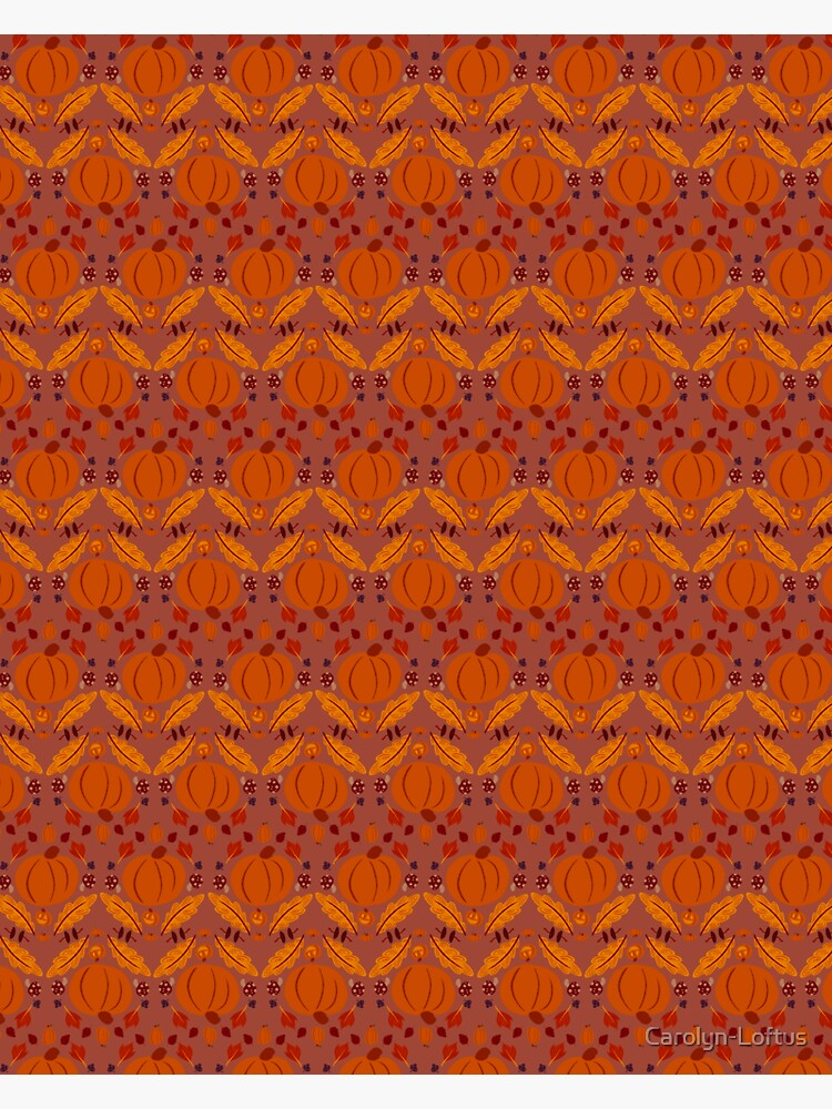 Falling for Autumn-Main Pattern, Red by Carolyn-Loftus