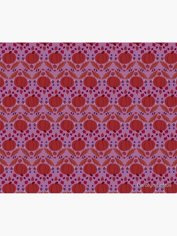 Falling for Autumn-Main Pattern, Purple by Carolyn-Loftus