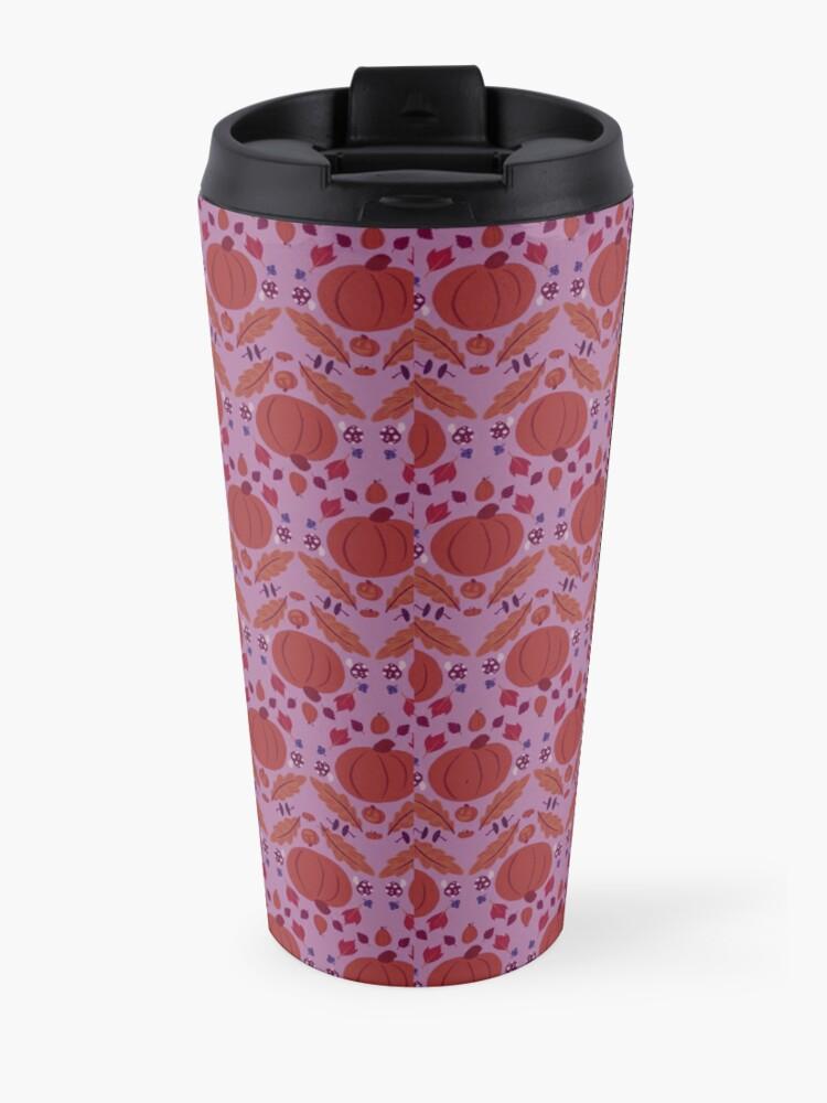 Alternate view of Falling for Autumn-Main Pattern, Purple Travel Mug