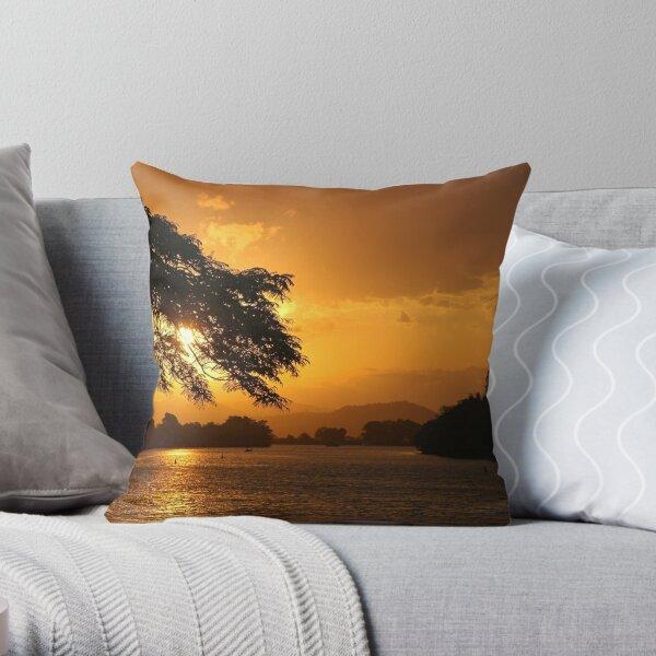 Tweed River Sunset Throw Pillow