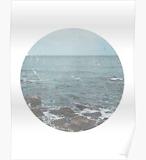 Rocky Beach Travel Photography Poster