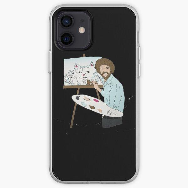 montaña de pintura Funda blanda para iPhone