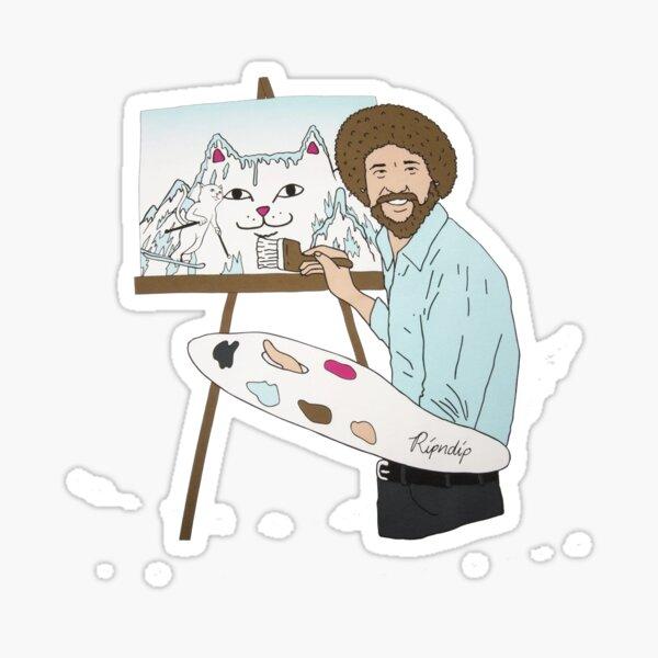 peinture montagne Sticker