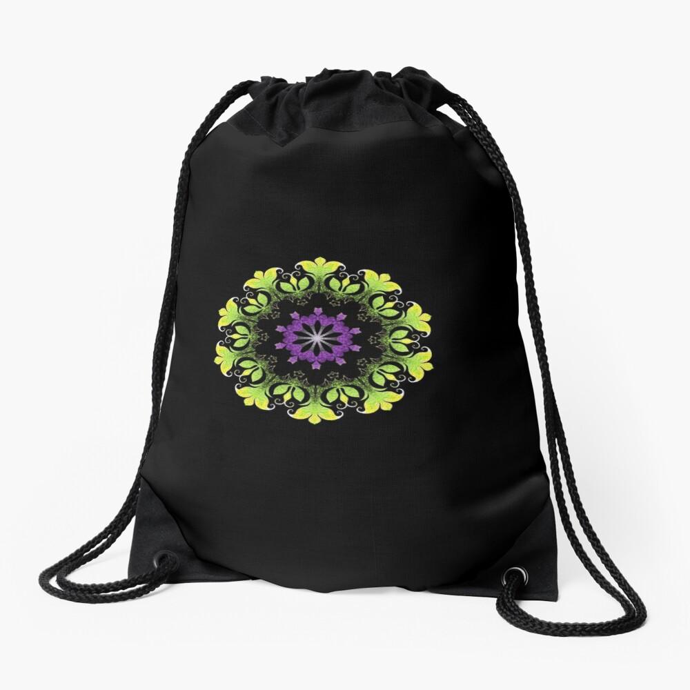 Filigree Flower Drawstring Bag