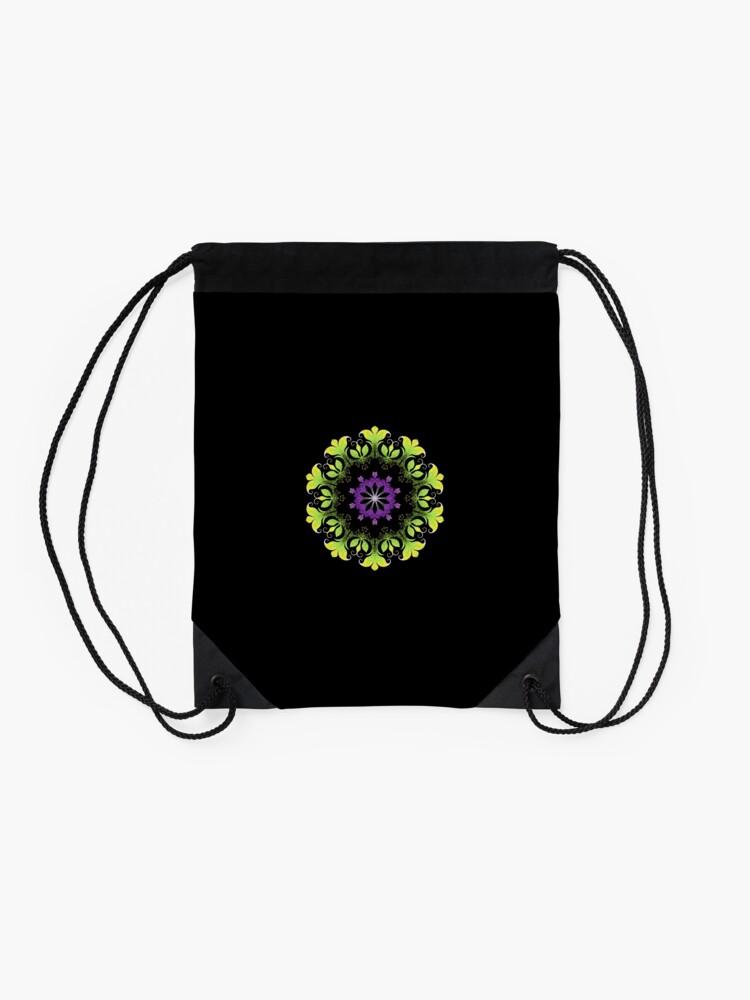 Alternate view of Filigree Flower Drawstring Bag