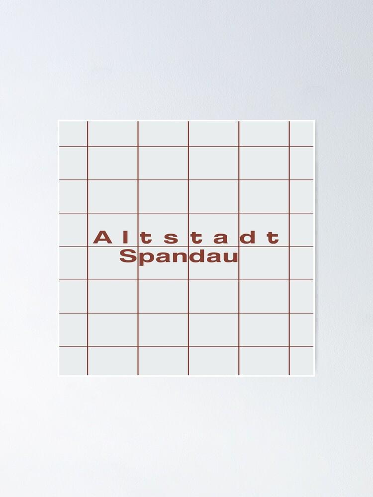 Alternate view of Altstadt Spandau Station Tiles (Berlin) Poster