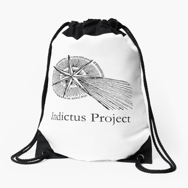 CANDOR ILLAESUS with large text Drawstring Bag