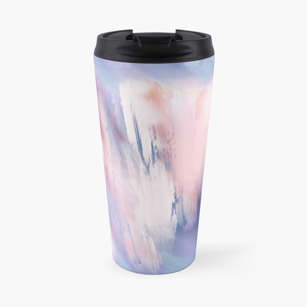 Abstract Painting Purple Blue Peach Salmon Travel Mug