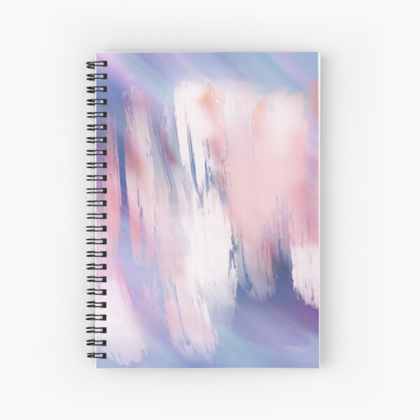 Abstract Painting Purple Blue Peach Salmon Spiral Notebook