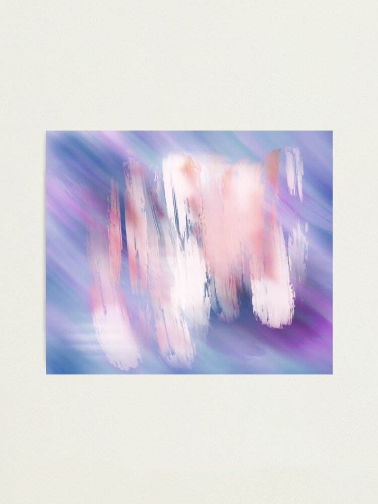 Alternate view of Abstract Painting Purple Blue Peach Salmon Photographic Print