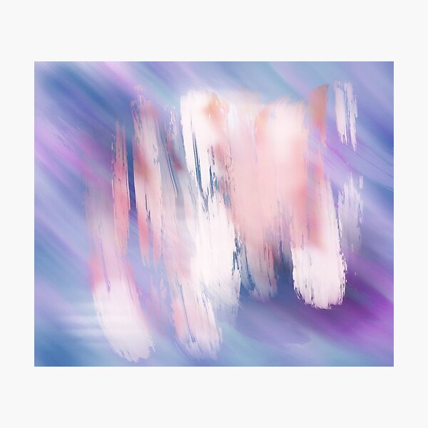 Abstract Painting Purple Blue Peach Salmon Photographic Print