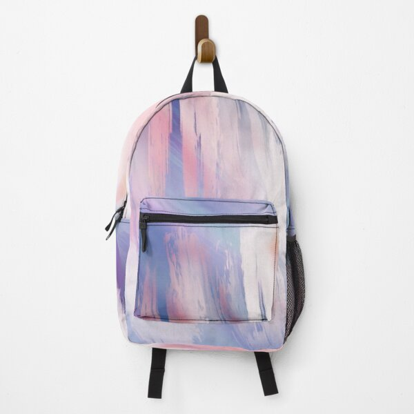 Abstract Painting Purple Blue Peach Salmon Backpack