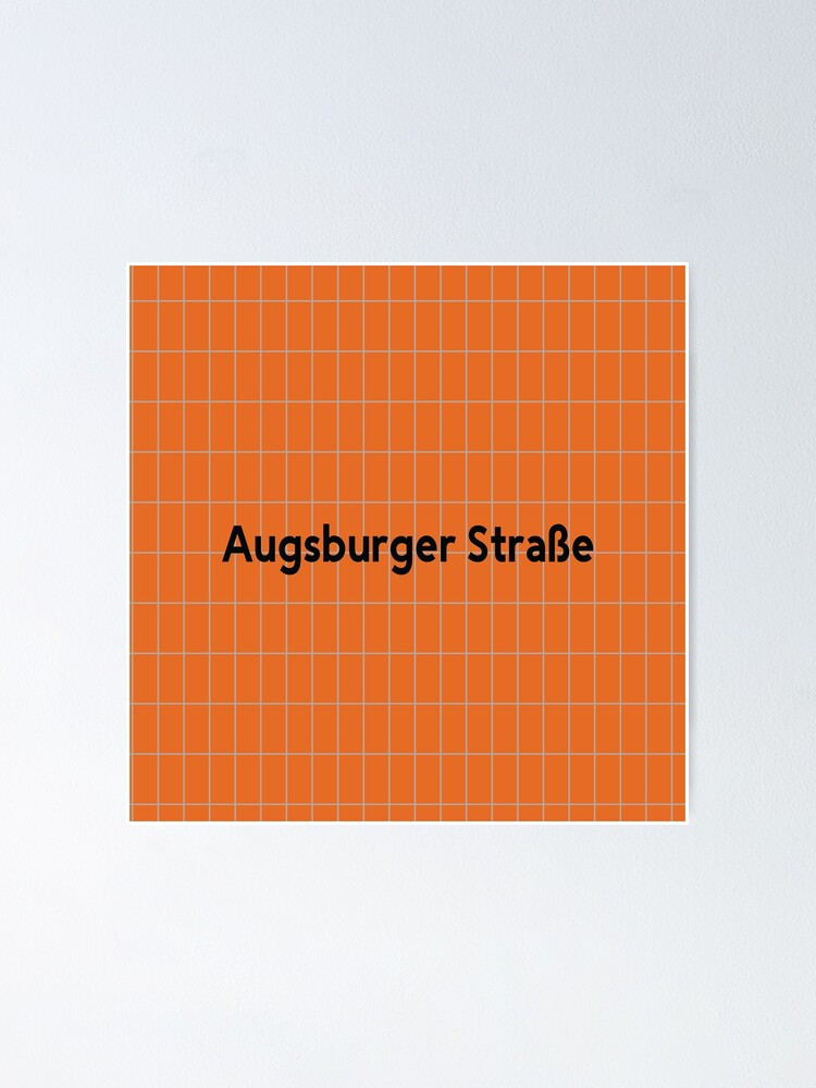 Alternate view of Augsburger Straße Station Tiles (Berlin) Poster