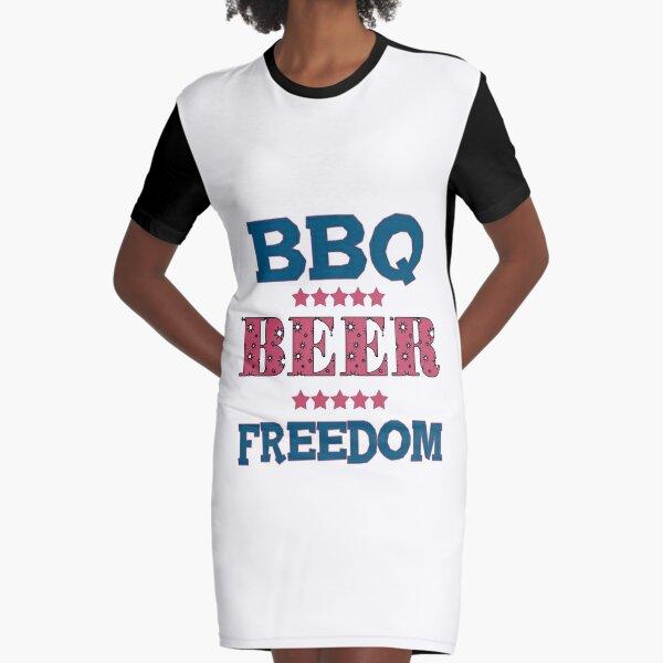 BARBACOA CERVEZA FREEDOM FT Vestido camiseta