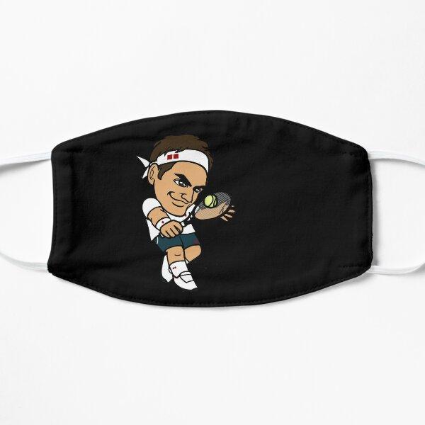 Roger Federer mask - Black background Mask