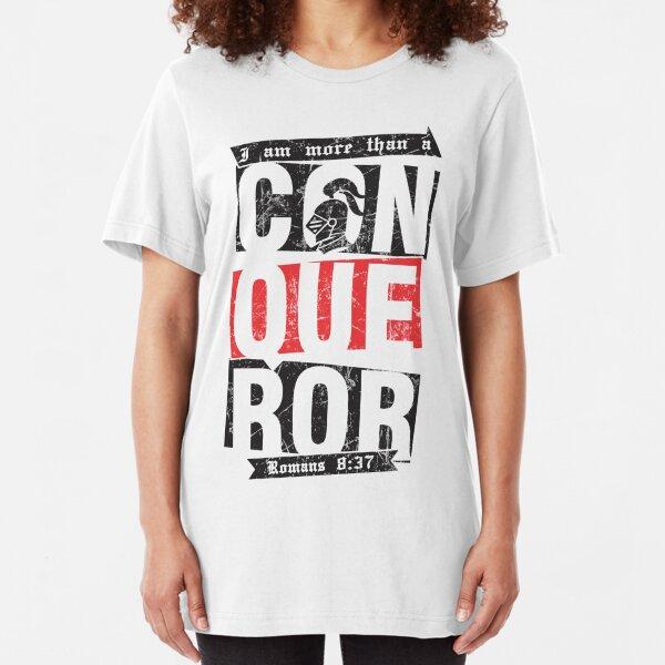 Christian T-Shirt: More than a conqueror Slim Fit T-Shirt