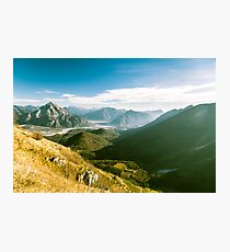 Autumn morning in the alps Photographic Print