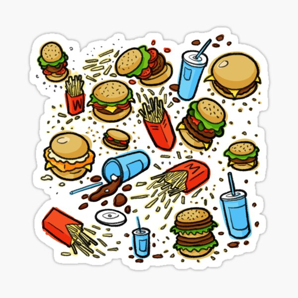 Burgers and Fries Sticker