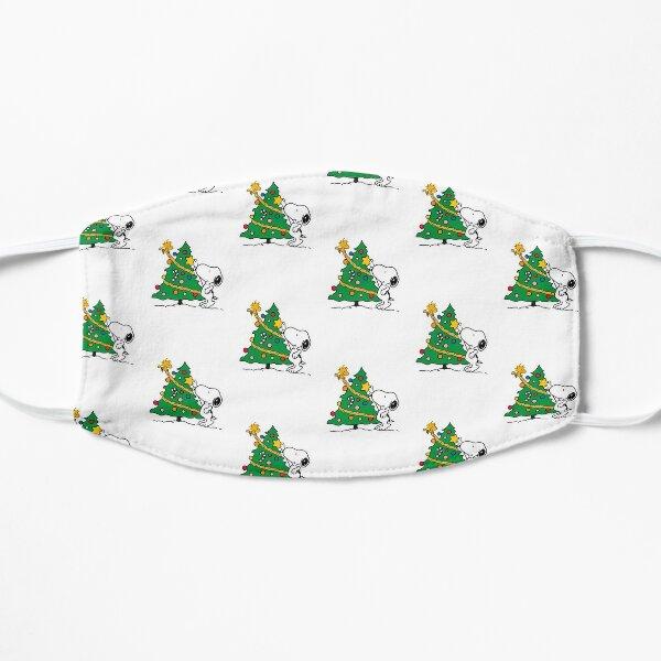 Navidad Snoopy Mascarilla plana