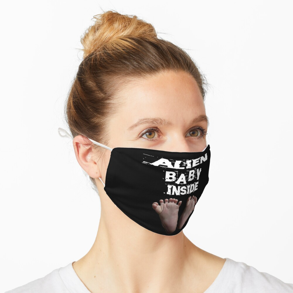 Alien Baby Inside Design  Mask