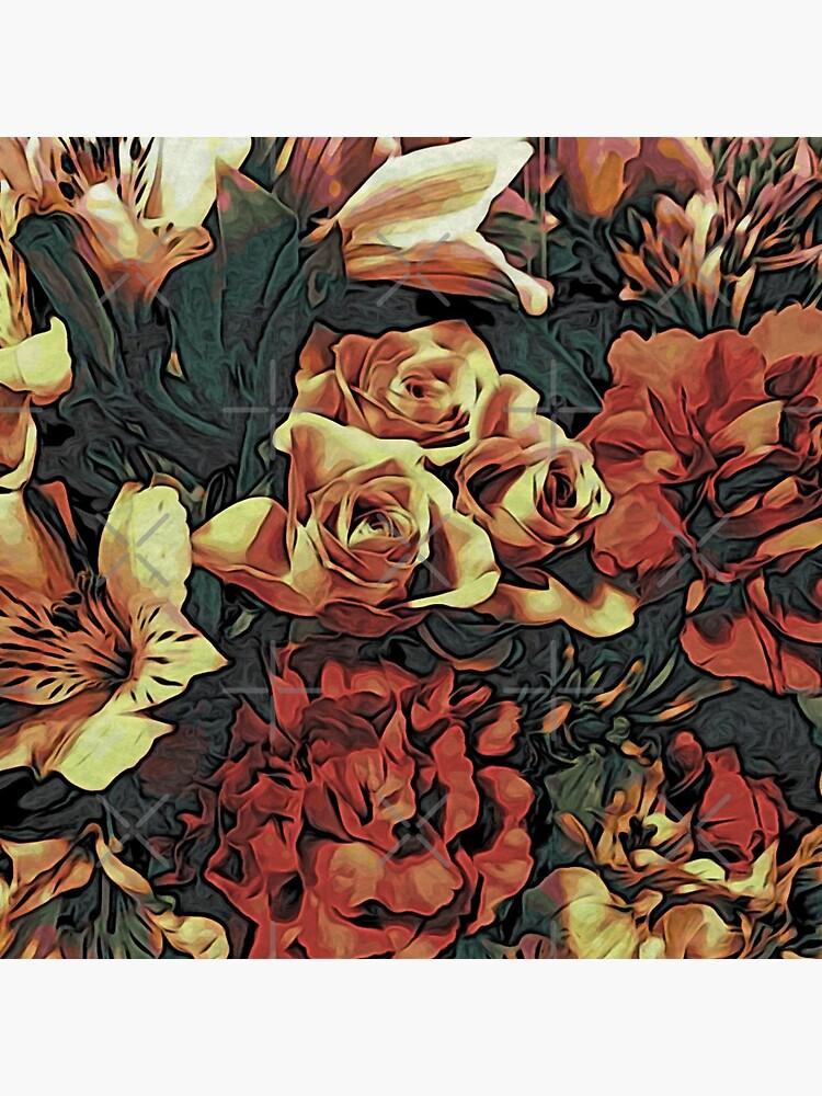 Floral Gift Idea - Vintage Bouquet by OneDayArt