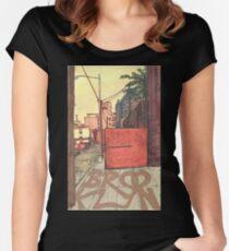 brooklyn sidewalk Women's Fitted Scoop T-Shirt
