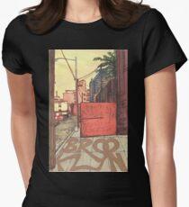 brooklyn sidewalk Women's Fitted T-Shirt