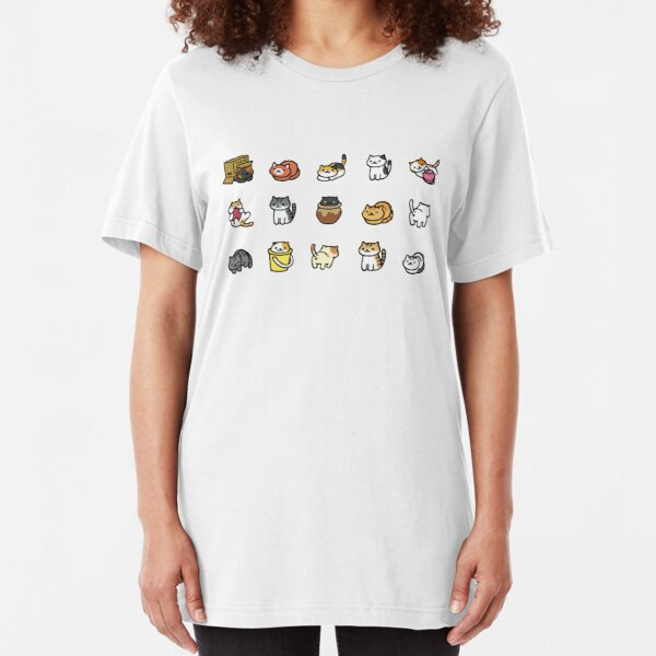 Neko Atsume Slim Fit T-Shirt