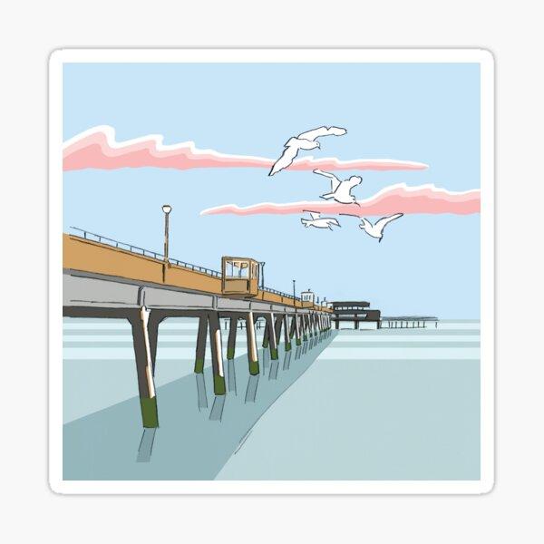 Deal Seafront Pier, Kent England UK Sticker