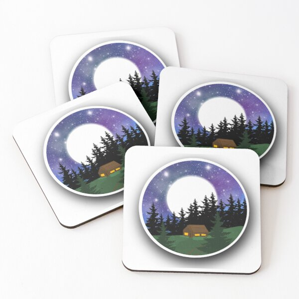 Surrounded In Peace Coasters (Set of 4)