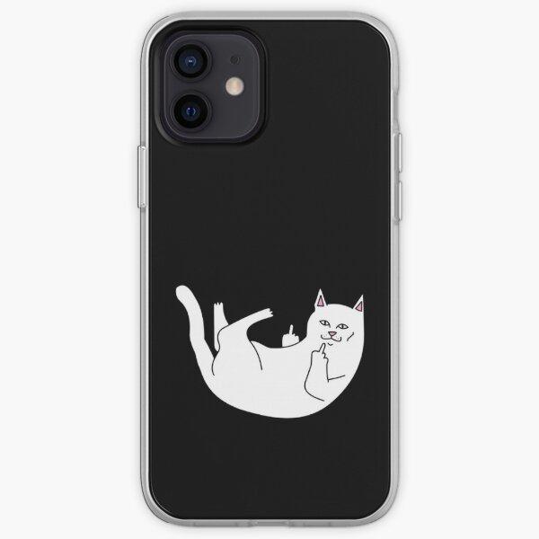 gato acostado Funda blanda para iPhone
