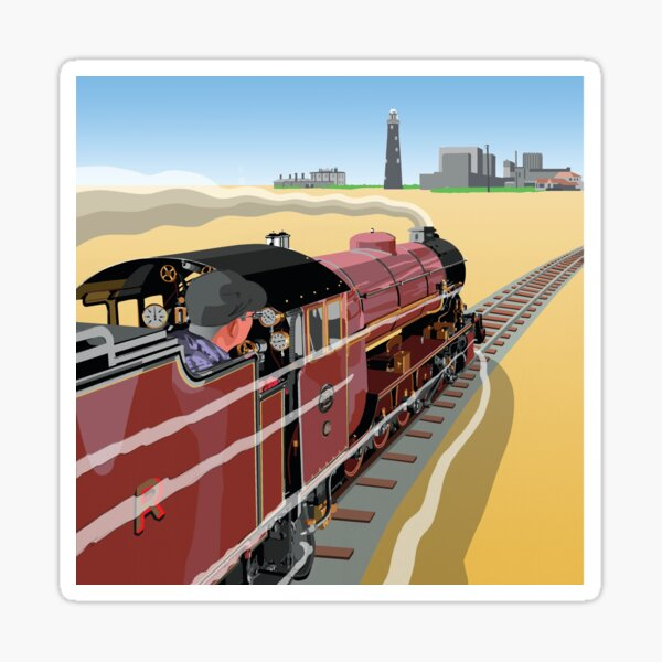 Dungeness and Hythe Steam Railway Kent Coast, England, UK Sticker