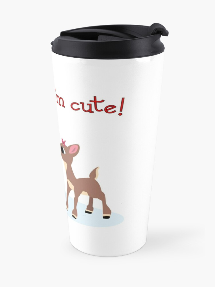 Alternate view of She Said I'm Cute! Travel Mug