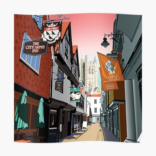 City Arms Butchery Lane Canterbury Cathedral England Kent Uk Poster