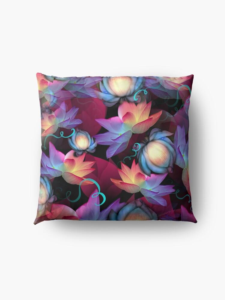 Alternate view of Moonlight Lotus Floor Pillow