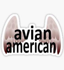 Avian American Sticker