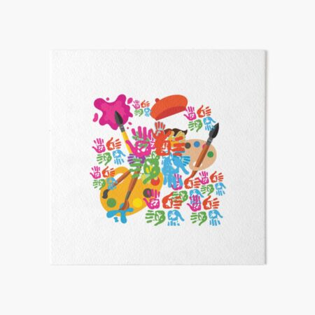 Colourfull life Art Board Print