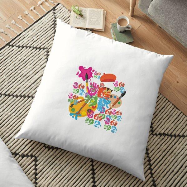 Colourfull life Floor Pillow