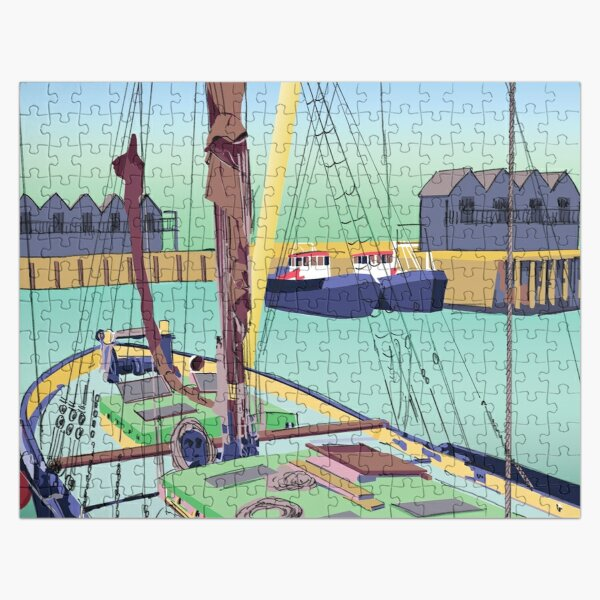 Barge and Boats Whitstable Harbour, Kent, UK Jigsaw Puzzle