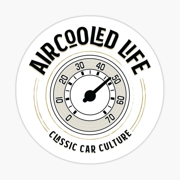 Aircooled Life - Speedometer Gauge Classic Car Culture Sticker