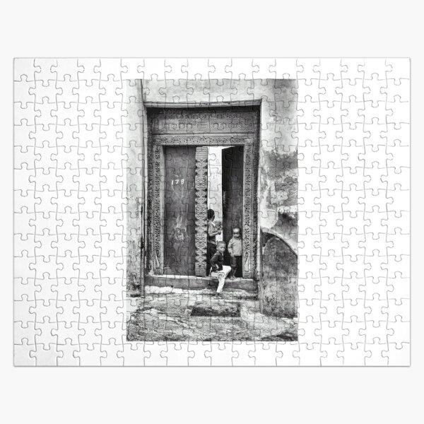 African Kids Playing - Stonetown Zanzibar 3609 Tanzania East Africa Jigsaw Puzzle