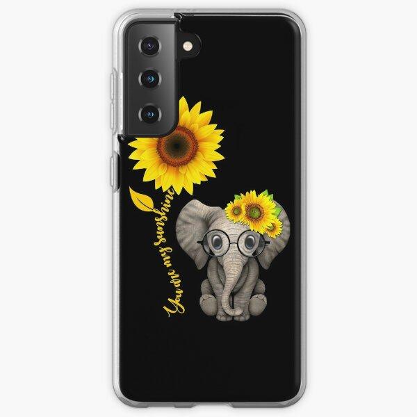Elefant Sonnenblume du bist mein Sonnenschein Samsung Galaxy Flexible Hülle