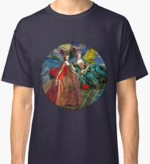 Vintage Golden Women Gemini Gothic Whimsical Collage Classic T-Shirt