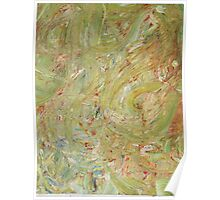 Abstract Green Swirls Poster