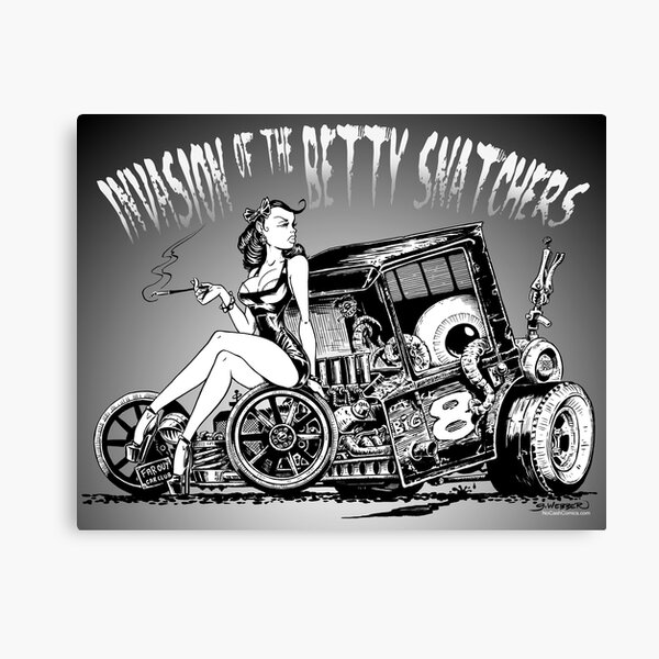 Invasion of the Betty Snatchers Canvas Print