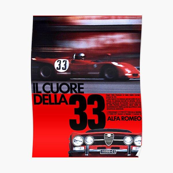 ALFA ROMEO 1750 GT VELOCE GTV Poster